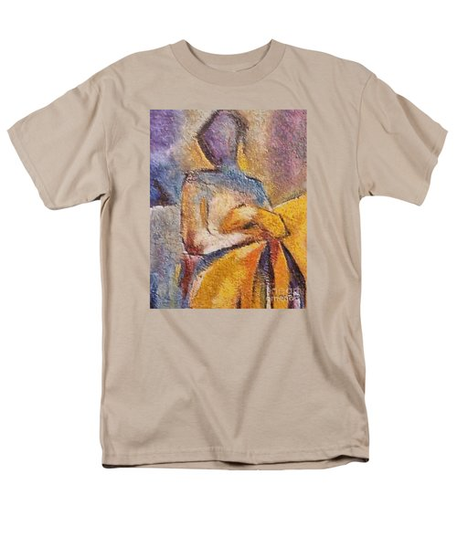 Men's T-Shirt  (Regular Fit) featuring the mixed media Waiting by Dragica  Micki Fortuna