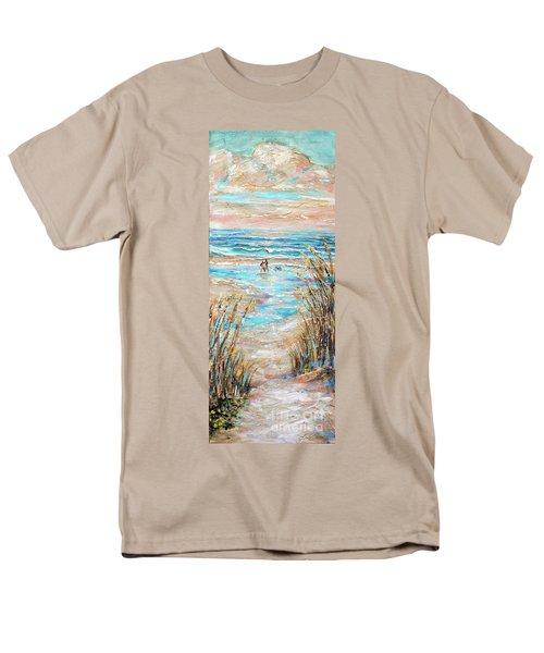 Walking The Dog IIi Men's T-Shirt  (Regular Fit) by Linda Olsen
