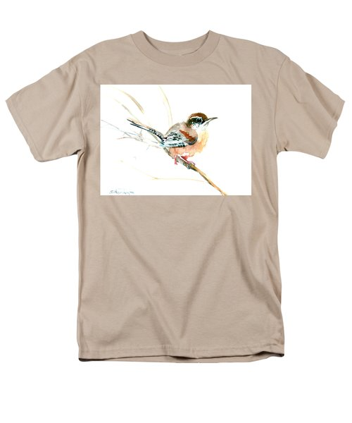 Warbler Songbird Art  Men's T-Shirt  (Regular Fit) by Suren Nersisyan