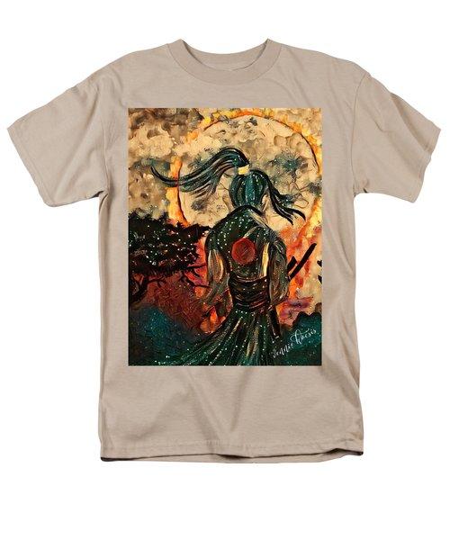 Warrior Moon Men's T-Shirt  (Regular Fit) by Vennie Kocsis