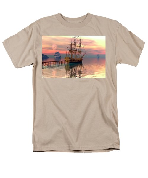 Men's T-Shirt  (Regular Fit) featuring the digital art Water Traffic by Claude McCoy