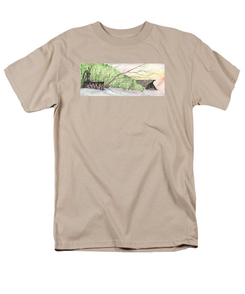 Watercolor Barn Men's T-Shirt  (Regular Fit) by Darren Cannell