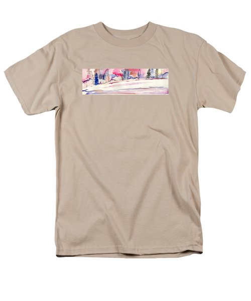 Watercolor River Men's T-Shirt  (Regular Fit) by Darren Cannell