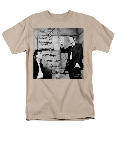 Watson And Crick Men's T-Shirt  (Regular Fit) by A Barrington Brown and Photo Researchers