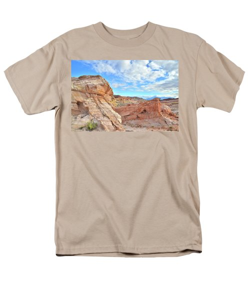 Waves Of Sandstone In Valley Of Fire Men's T-Shirt  (Regular Fit) by Ray Mathis