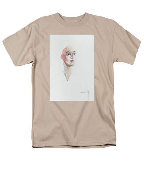 Men's T-Shirt  (Regular Fit) featuring the painting Wc Mini Portrait 6             by Becky Kim