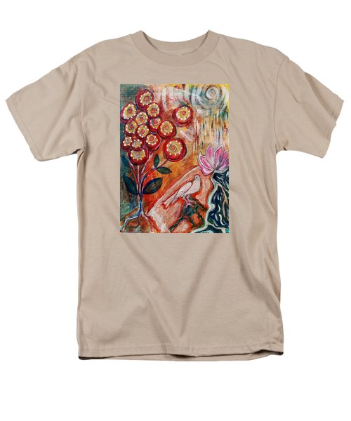 Men's T-Shirt  (Regular Fit) featuring the mixed media White Bird by Mimulux patricia no No