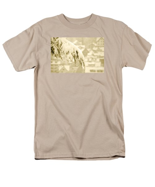 Men's T-Shirt  (Regular Fit) featuring the photograph White Christmas - Winter In Switzerland by Susanne Van Hulst