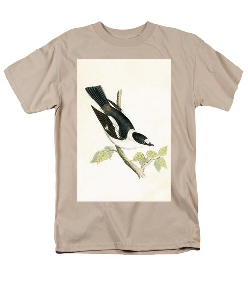 White Collared Flycatcher Men's T-Shirt  (Regular Fit) by English School