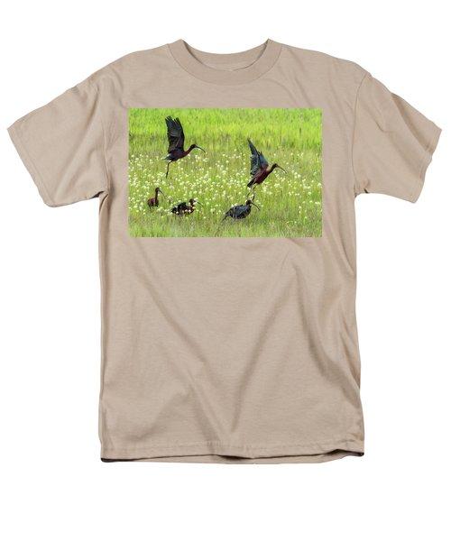 White-faced Ibis Rising, No. 1 Men's T-Shirt  (Regular Fit) by Belinda Greb