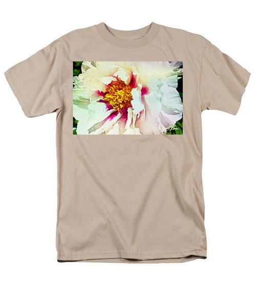 White Peony Men's T-Shirt  (Regular Fit) by Joan Reese