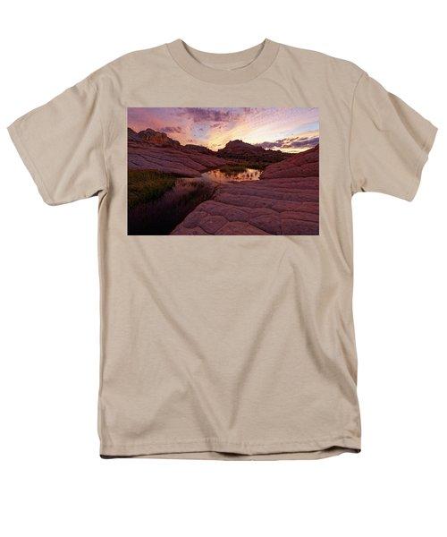 White Pocket Sunset Men's T-Shirt  (Regular Fit) by Jonathan Davison