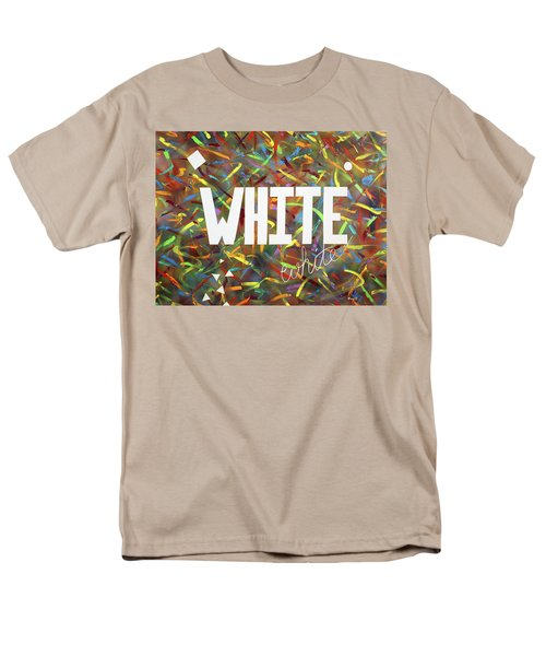 Men's T-Shirt  (Regular Fit) featuring the painting White by Thomas Blood