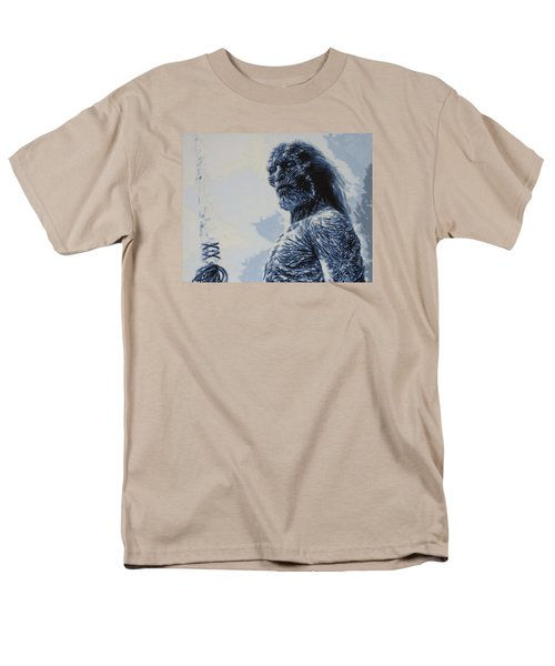 Men's T-Shirt  (Regular Fit) featuring the painting White Walker by Luis Ludzska