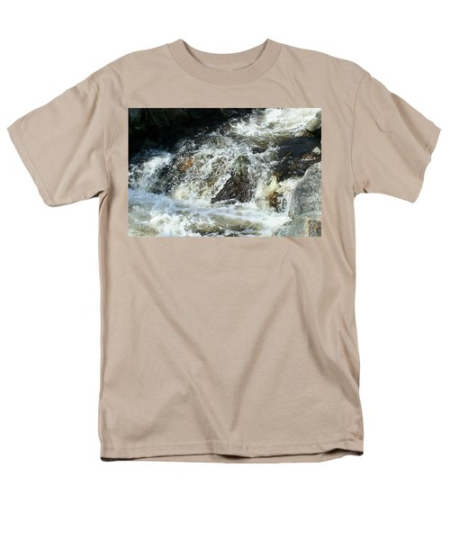 Men's T-Shirt  (Regular Fit) featuring the digital art White Water by Barbara S Nickerson