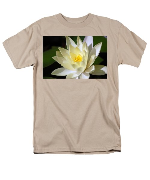 White Water Lily Men's T-Shirt  (Regular Fit) by Donna Bentley