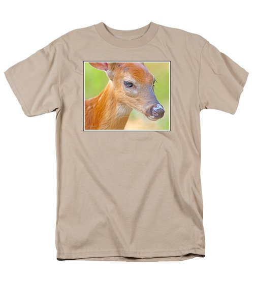 Men's T-Shirt  (Regular Fit) featuring the photograph Whitetailed Deer Fawn Portrait by A Gurmankin