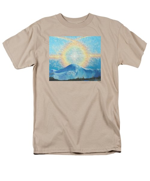Who Makes The Clouds His Chariot Fire Rainbow Over Alberta Peak Men's T-Shirt  (Regular Fit) by Anastasia Savage Ealy