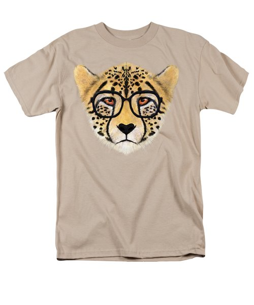 Wild Cheetah With Glasses  Men's T-Shirt  (Regular Fit) by David Ardil