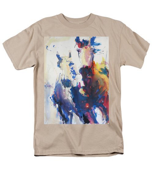 Men's T-Shirt  (Regular Fit) featuring the painting Wild Wild Horses by Robert Joyner
