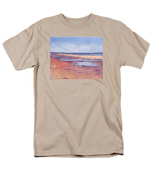 Windy October Beach Men's T-Shirt  (Regular Fit) by Trina Teele