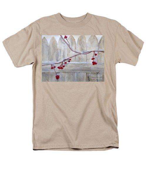 Winter Berries Watercolor Men's T-Shirt  (Regular Fit) by Susan Lafleur