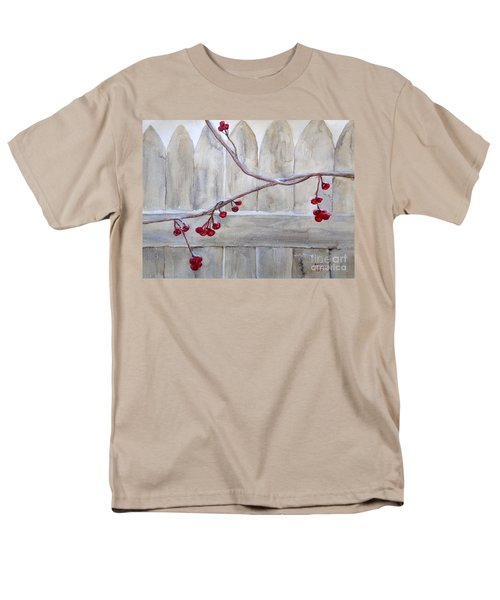 Winter Berries Watercolor Men's T-Shirt  (Regular Fit)