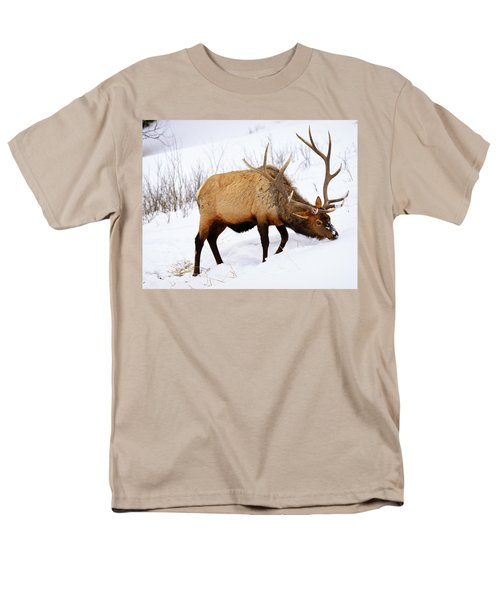 Men's T-Shirt  (Regular Fit) featuring the photograph Winter Bull by Greg Norrell