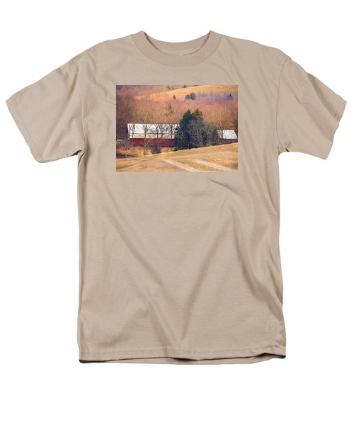 Men's T-Shirt  (Regular Fit) featuring the photograph Winter Day At The Farm by Debbie Karnes