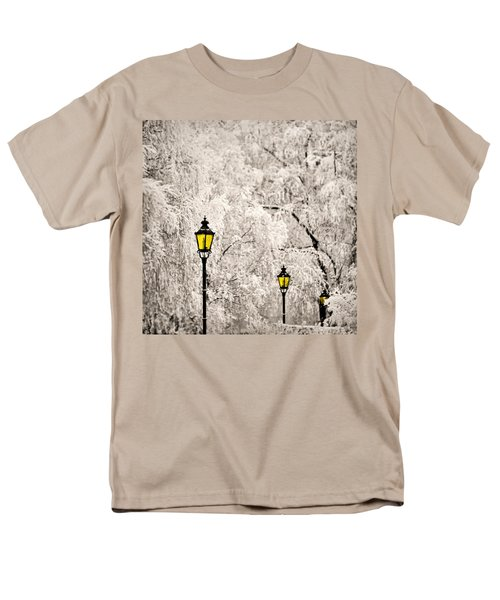 Winter Lanterns Men's T-Shirt  (Regular Fit) by Ari Salmela