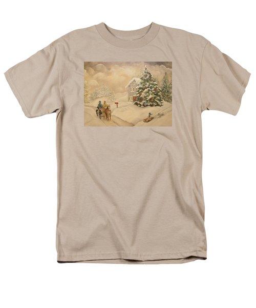 Men's T-Shirt  (Regular Fit) featuring the painting Winter Scene by John Stuart Webbstock