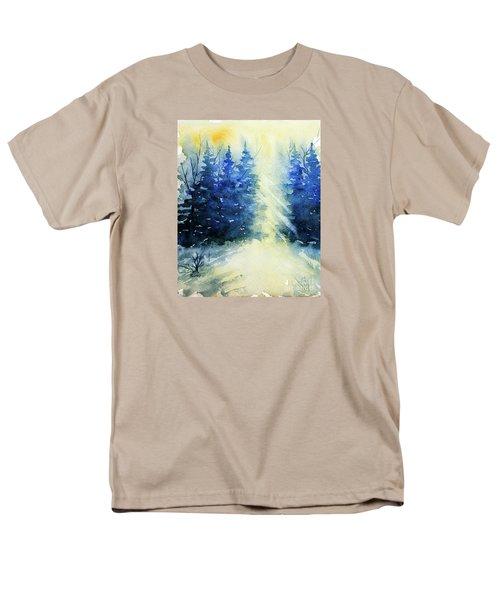 Winter Sunrise Men's T-Shirt  (Regular Fit) by Rebecca Davis