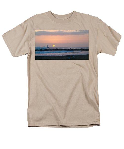 Winter Sunset, Venice Breakwater Men's T-Shirt  (Regular Fit)