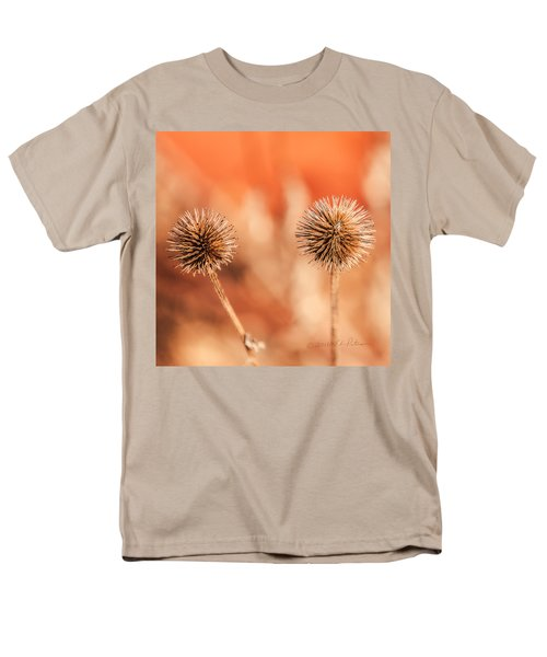 Men's T-Shirt  (Regular Fit) featuring the photograph Winter Thistle by Edward Peterson