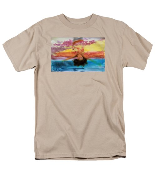 Woman Engulfed Men's T-Shirt  (Regular Fit)