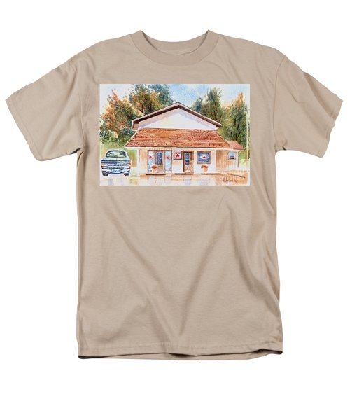 Men's T-Shirt  (Regular Fit) featuring the painting Woodcock Insurance In Watercolor  W406 by Kip DeVore