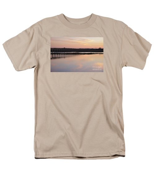 Wooden Bridge And Twilight Men's T-Shirt  (Regular Fit) by Angelo DeVal