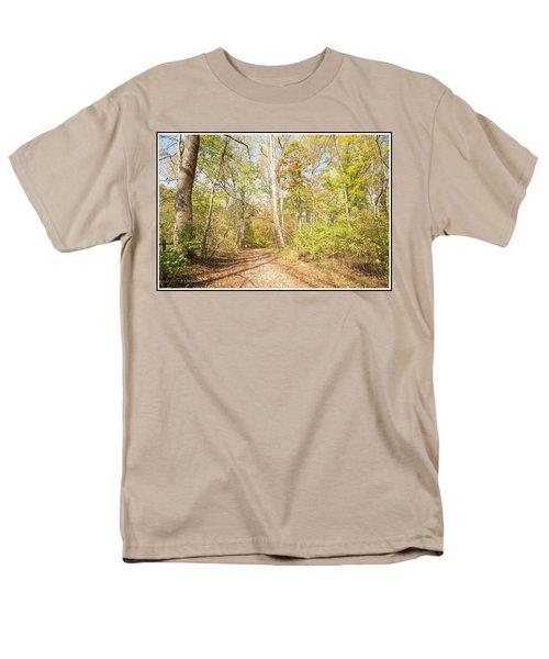 Woodland Path, Autumn, Montgomery County, Pennsylvania Men's T-Shirt  (Regular Fit) by A Gurmankin