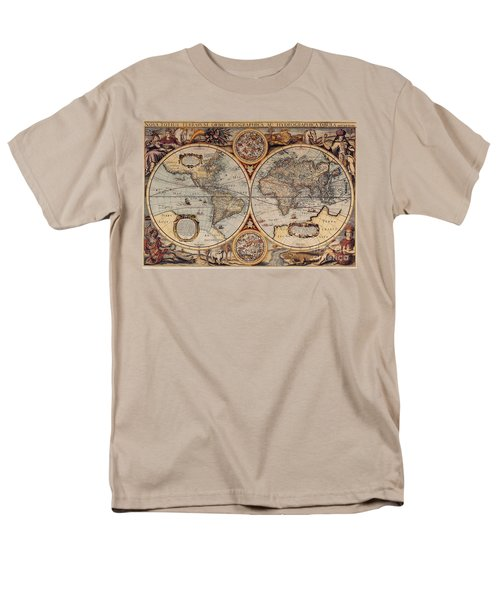World Map 1636 Men's T-Shirt  (Regular Fit) by Photo Researchers