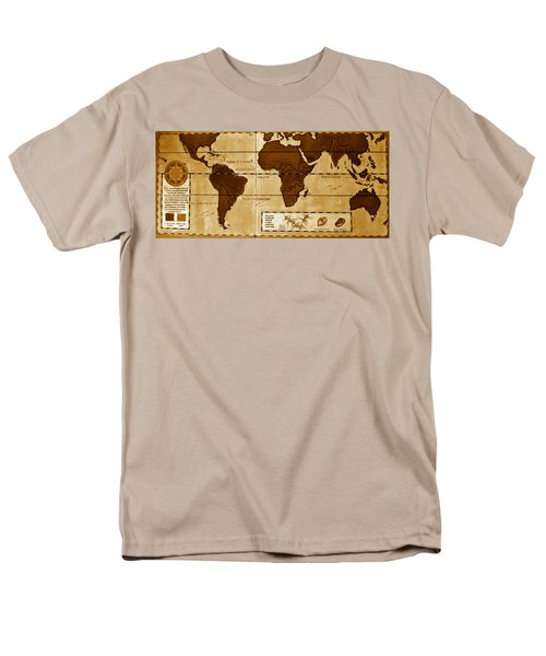World Map Of Coffee Men's T-Shirt  (Regular Fit) by David Lee Thompson
