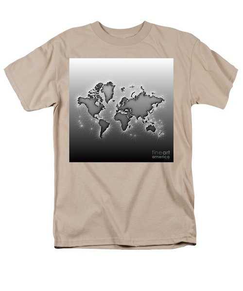 World Map Opala In Black And White Men's T-Shirt  (Regular Fit) by Eleven Corners