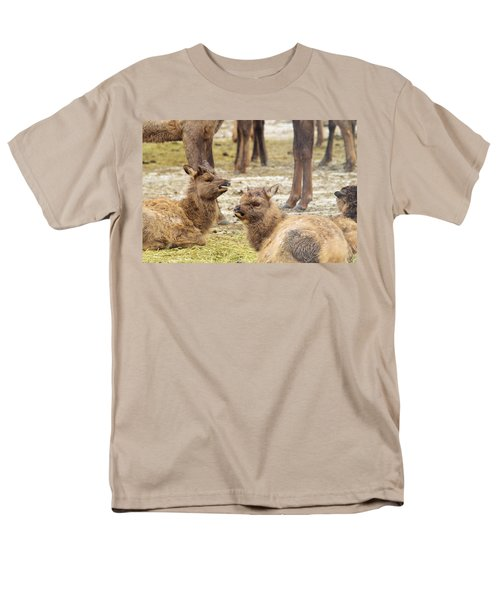 Men's T-Shirt  (Regular Fit) featuring the photograph Yearlings by Jeff Swan