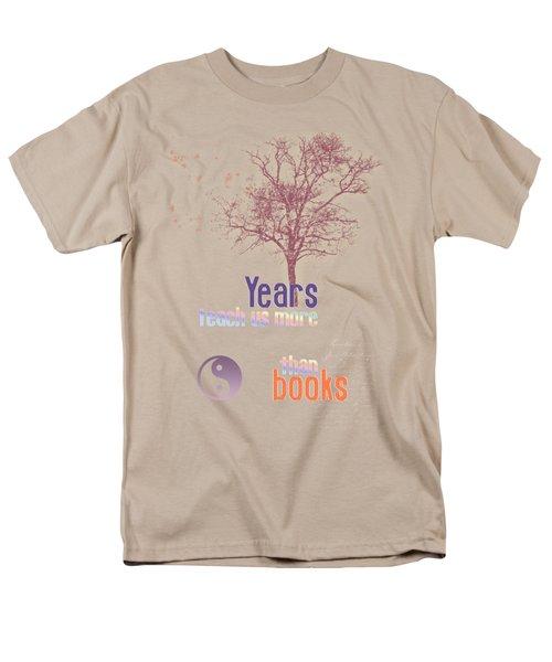 Men's T-Shirt  (Regular Fit) featuring the digital art Years Teach Us More by Jutta Maria Pusl