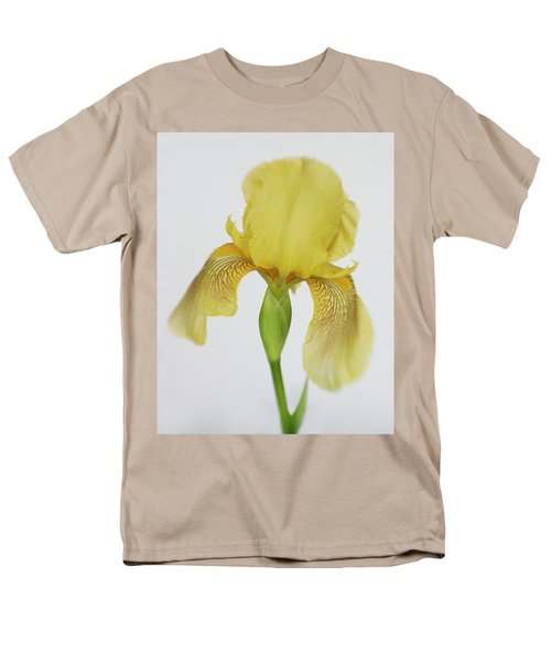 Men's T-Shirt  (Regular Fit) featuring the photograph Yellow Iris A Symbol Of Passion by David and Carol Kelly