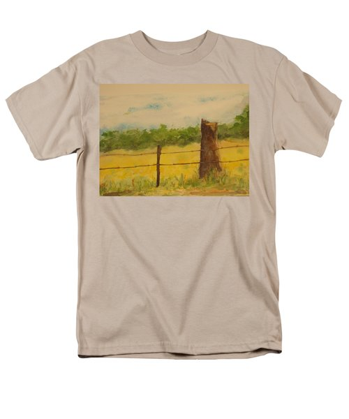 Men's T-Shirt  (Regular Fit) featuring the painting Yellow Meadow  by Vicki  Housel