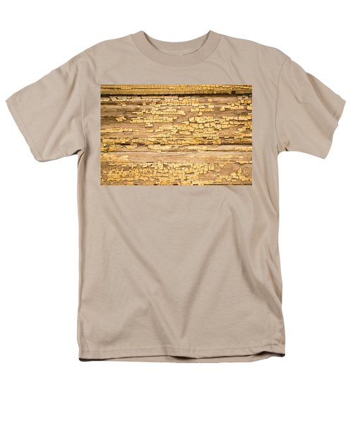 Men's T-Shirt  (Regular Fit) featuring the photograph Yellow Painted Aged Wood by John Williams
