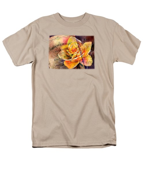 Men's T-Shirt  (Regular Fit) featuring the painting Yellow Rose Of Texas by Hailey E Herrera