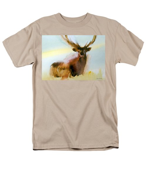 Yellowstone  Elk Men's T-Shirt  (Regular Fit) by Ed Heaton