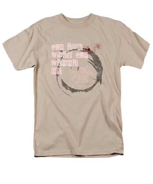 Men's T-Shirt  (Regular Fit) featuring the digital art You Are What You Wanna Be by Jutta Maria Pusl