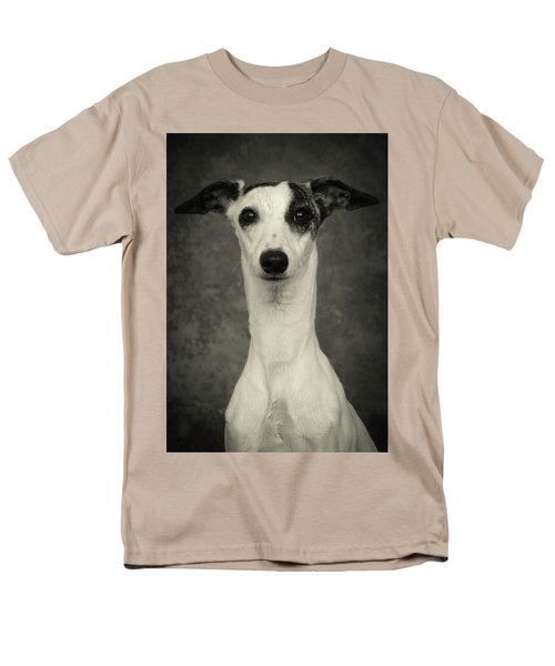 Young Whippet In Black And White Men's T-Shirt  (Regular Fit)